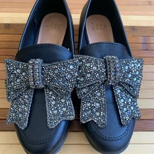 Diamond Bow 🎀 black shoes